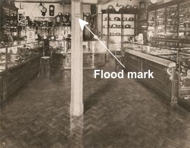 Moore's Jewellers, Derby. Flooded with 1.5m water in 1032 - undamaged